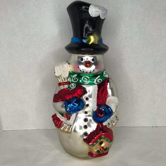 """Kurt Adler Other - Vintage Mercury Glass Kurt Adler 12"""" snowman"""
